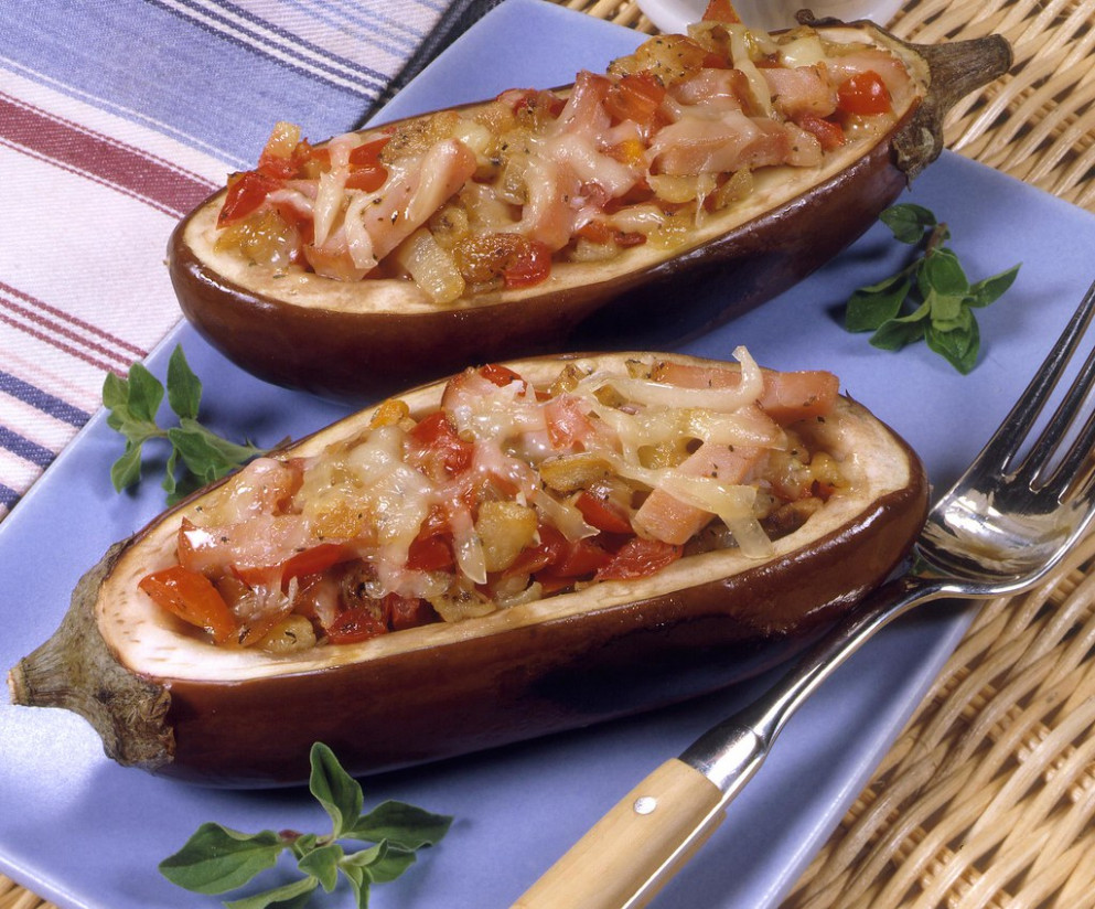 Eggplant Boats Provencal - recipes using shredded chicken healthy
