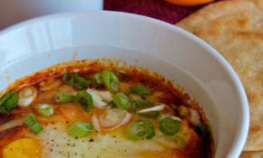 Eggs Baked In Salsa – Dinner Recipes Less Than 400 Calories