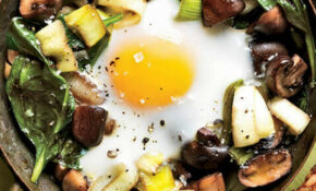Eggs Baked Over Sautéed Mushrooms And Spinach – Recipes Dinner Pinterest