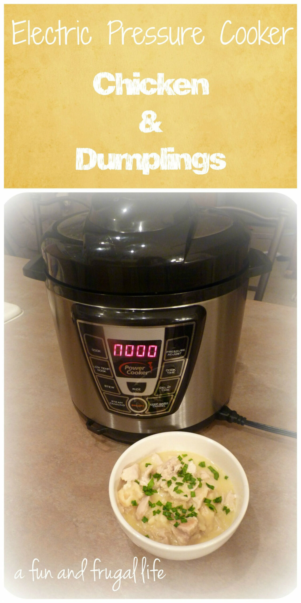 Electric Pressure Cooker ~ Chicken & Dumplings | Pressure ..