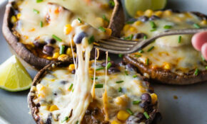 Enchilada Stuffed Grilled Portobello Mushrooms (25 Minutes) – Easy Mushroom Recipes For Dinner