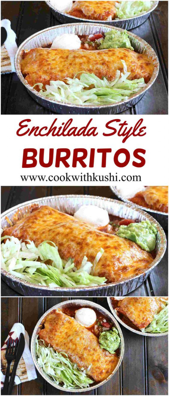 Enchilada Style Burritos is an easy to make and delicious ..