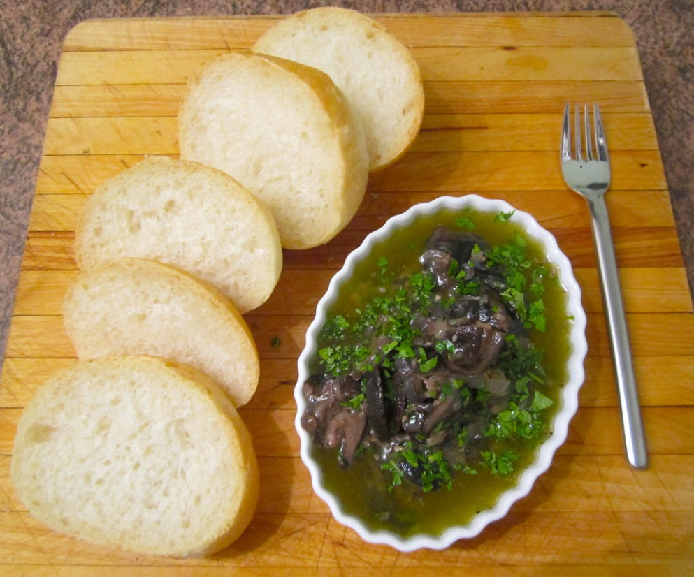 """Escargots Bourguignon"" (Snails in Garlic–Herb Butter)  @ Home by Hans susser - recipes easy dinner party"