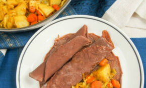 Ethiopian injera and tikel gomen (cabbage, carrots and potato)