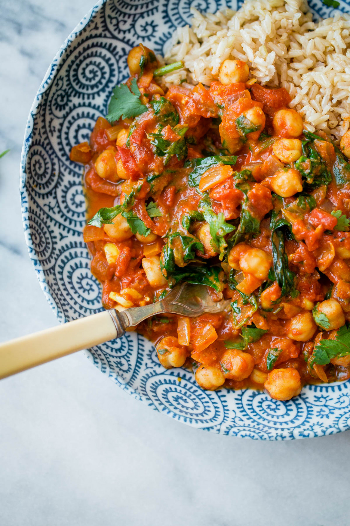 Everyday Chickpea Curry - A Beautiful Plate - recipes of chickpeas vegetarian
