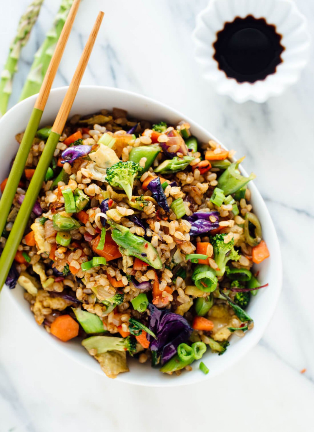 Extra Vegetable Fried Rice - Cookie and Kate - healthy recipes vegetables
