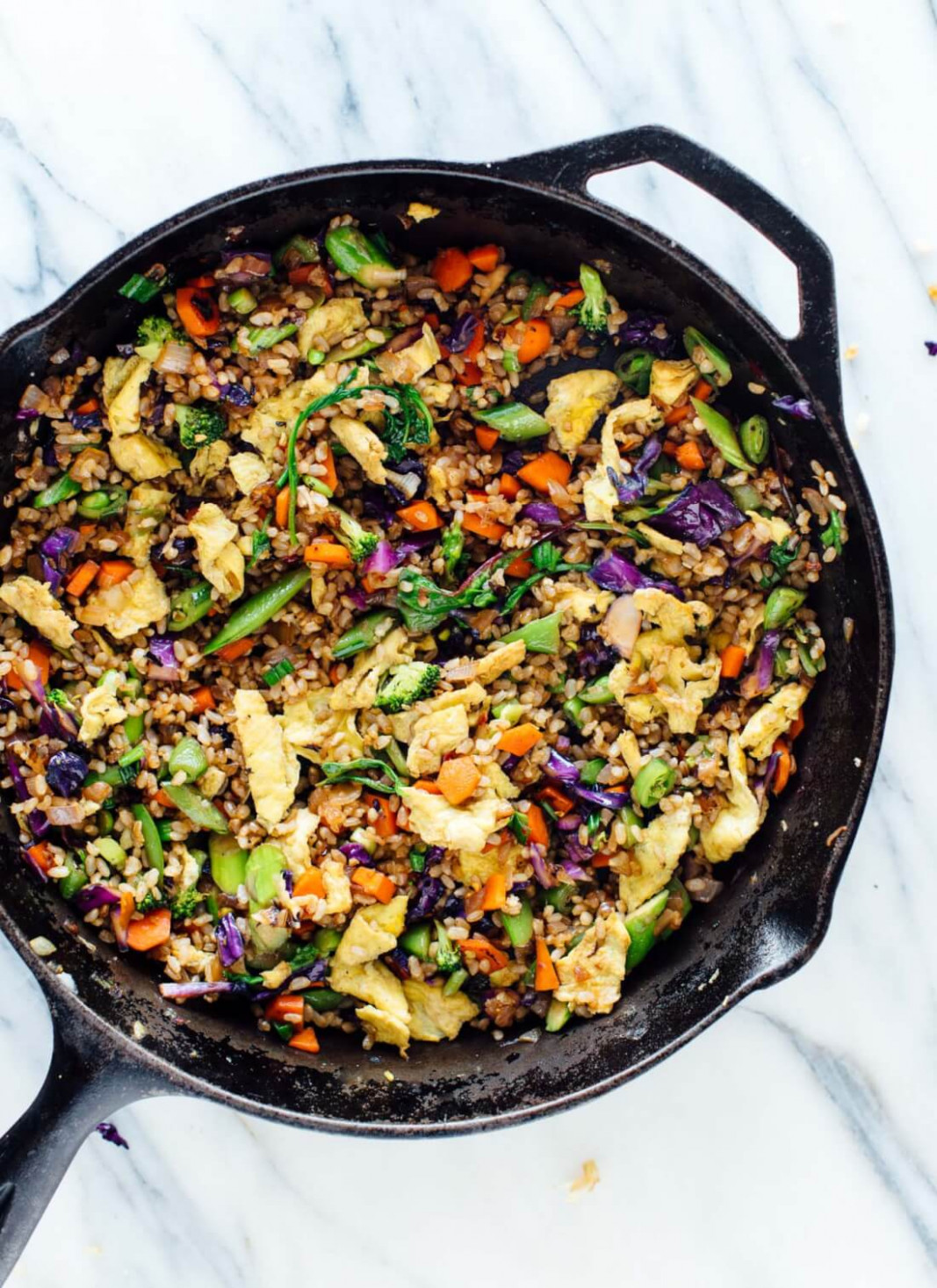 Extra Vegetable Fried Rice - Cookie and Kate - recipe vegetarian dishes