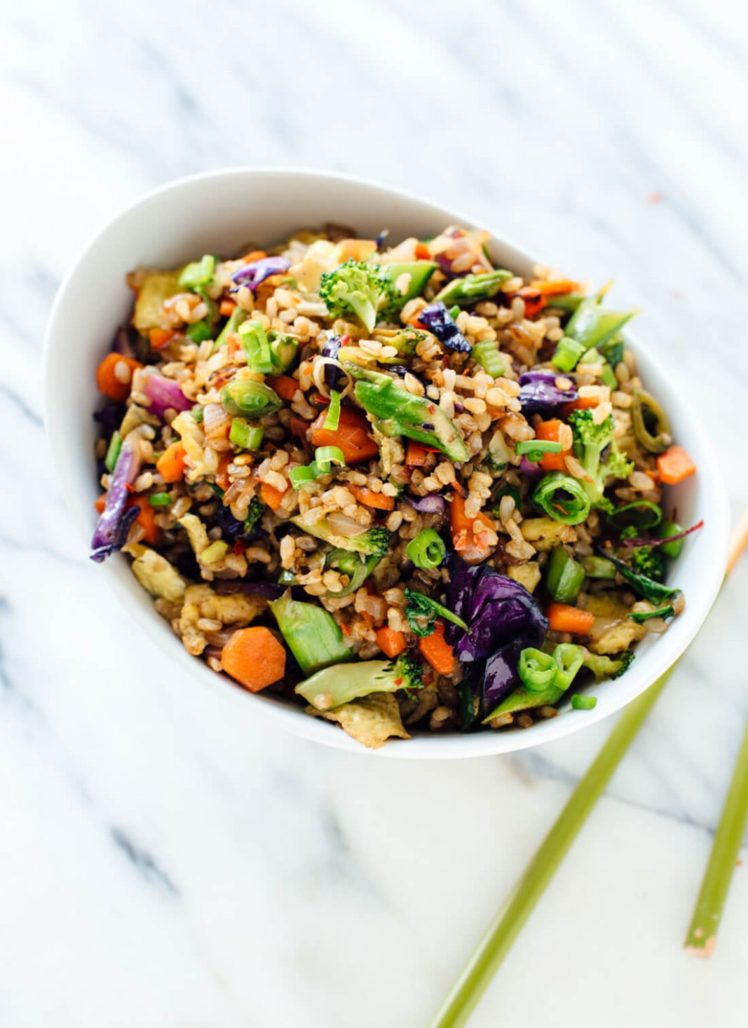 Extra Vegetable Fried Rice - Cookie and Kate - vegetarian and rice recipes