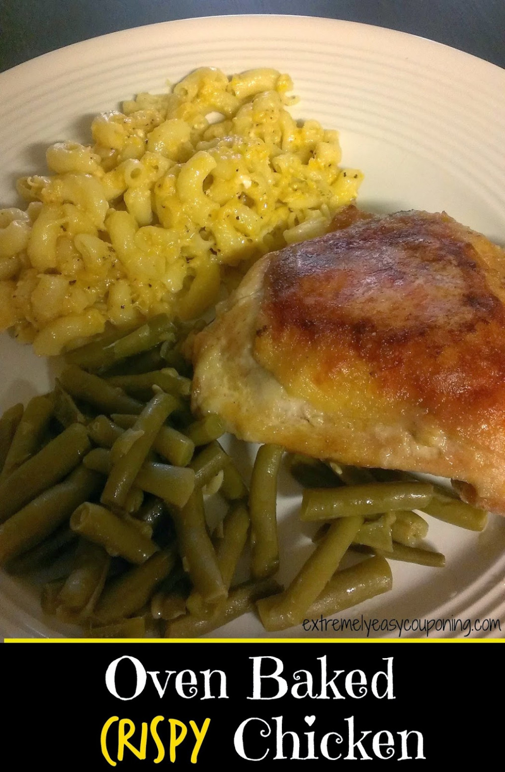 Extremely Easy Couponing: Oven Baked Crispy Chicken Recipe - baked chicken leg quarters recipes