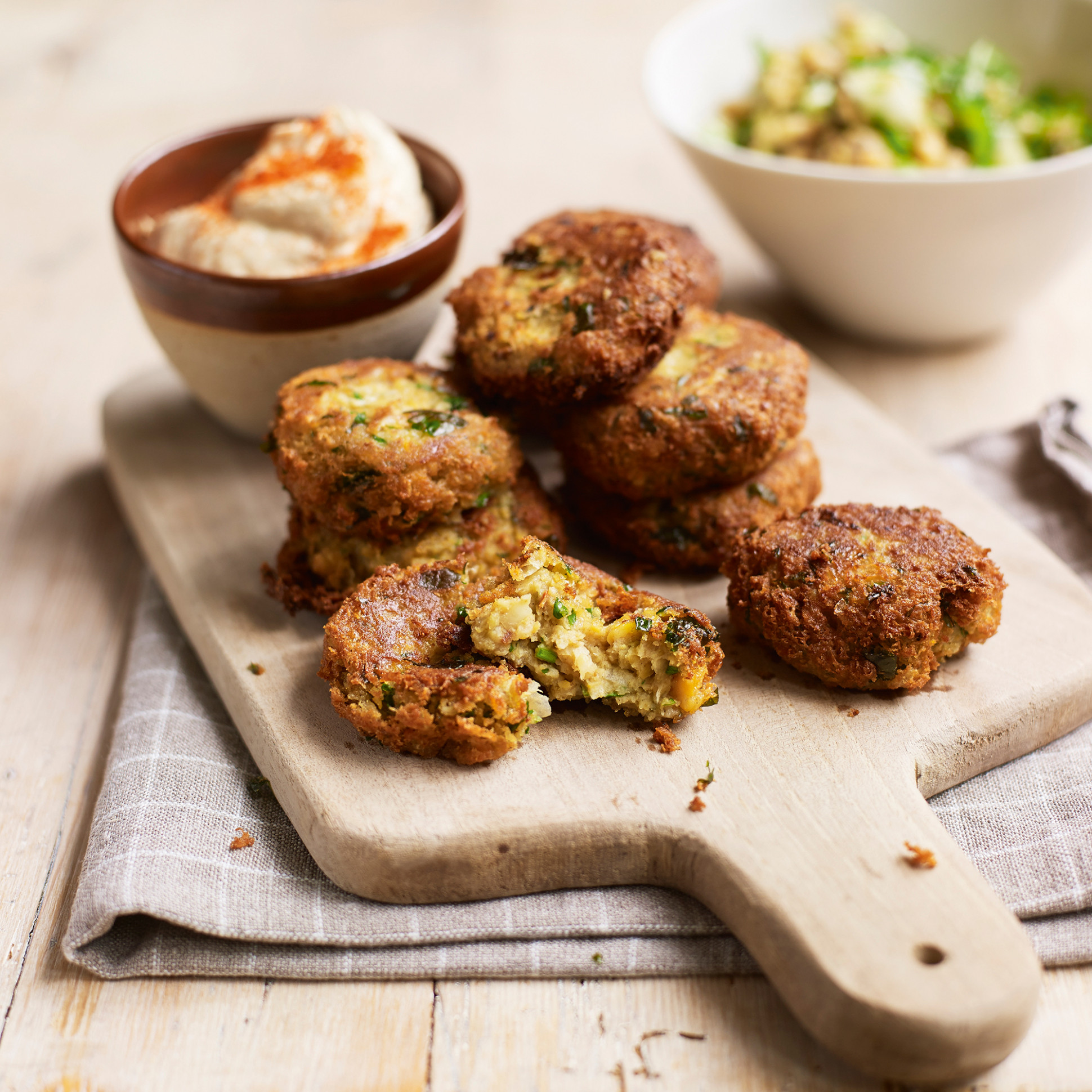 Falafel with Houmous and Grains - falafel recipes dinner