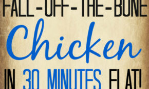 Fall Off The Bone Pressure Cooker Chicken (in 30 Minutes!) – Chicken Recipes Xl Pressure Cooker