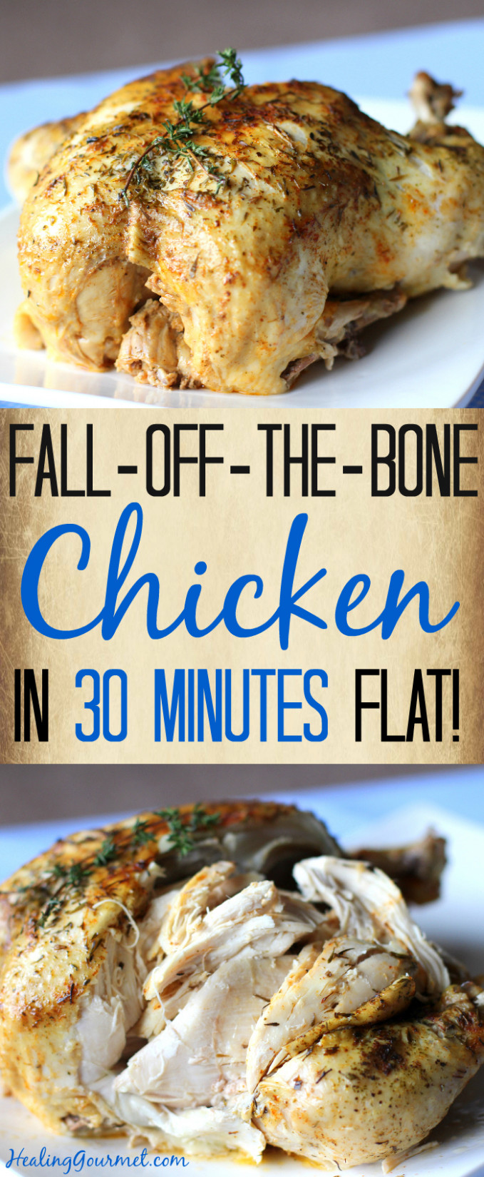 Fall-Off-The-Bone Pressure Cooker Chicken (in 30 Minutes!) - chicken recipes xl pressure cooker