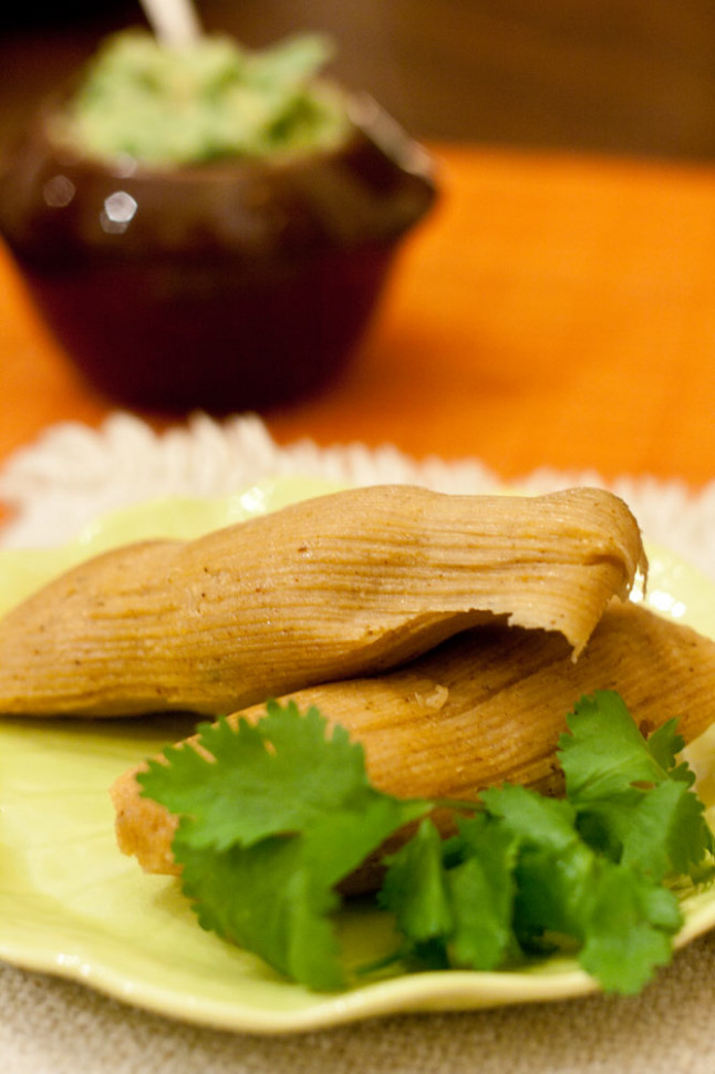 Family Friendly Fridays: Vegetarian Tamales - recipe vegetarian tamales