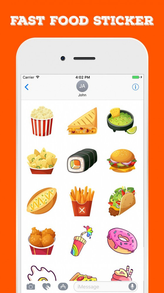 Fast Food Stickers For iMessage - fast food recipes