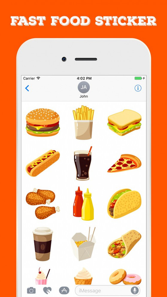 Fast Food Stickers For IMessage - Food Recipes App Download