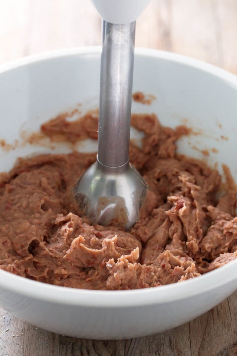 Fat Free Vegan Refried Beans - Simple Vegan Blog - recipe vegetarian refried beans