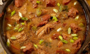 Fat Tuesday Chicken & Sausage Gumbo | Recipe | Living Rich ..