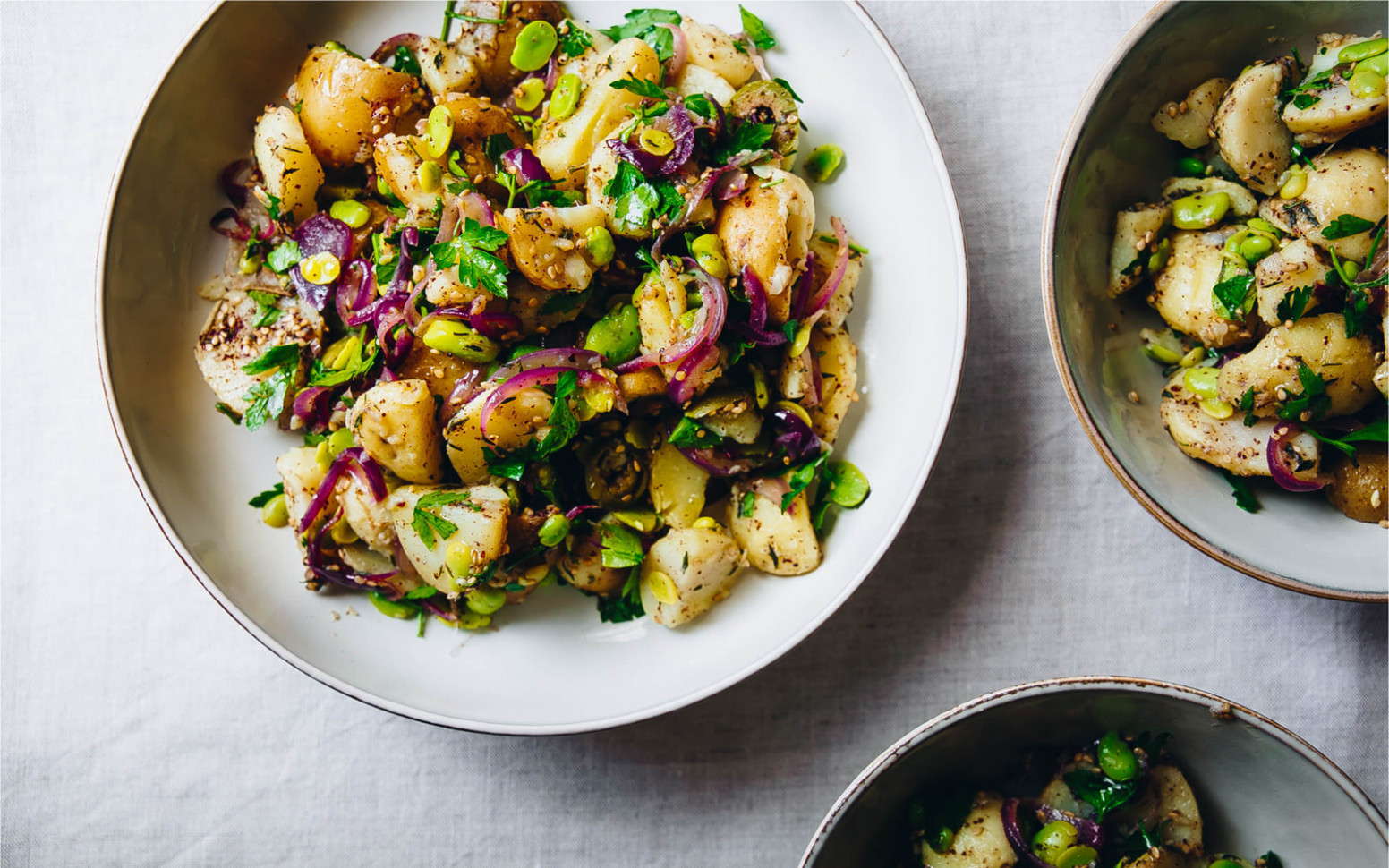 Fava Beans and Za'atar Potato Salad [Vegan, Grain-Free] - food zaatar recipes