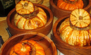 Festive Fall Dinner, Stuffed Baby Pumpkins With Sausage, Cheese, Walnuts, & Rice – Food Recipes Pumpkin