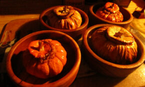 Festive Fall Dinner, Stuffed Baby Pumpkins With Sausage, Cheese, Walnuts, & Rice – Good Easy Recipes Dinner
