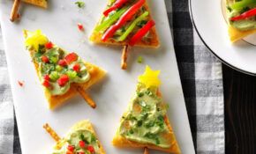 Festive Guacamole Appetizers Recipe | Taste Of Home – Recipes Xmas Food