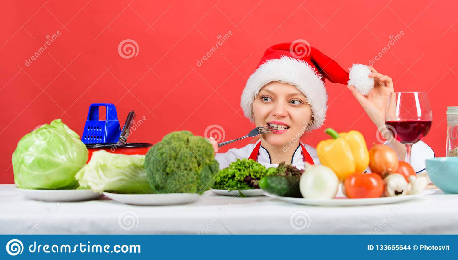 Festive Menu Concept. Christmas Dinner Idea. Healthy ..