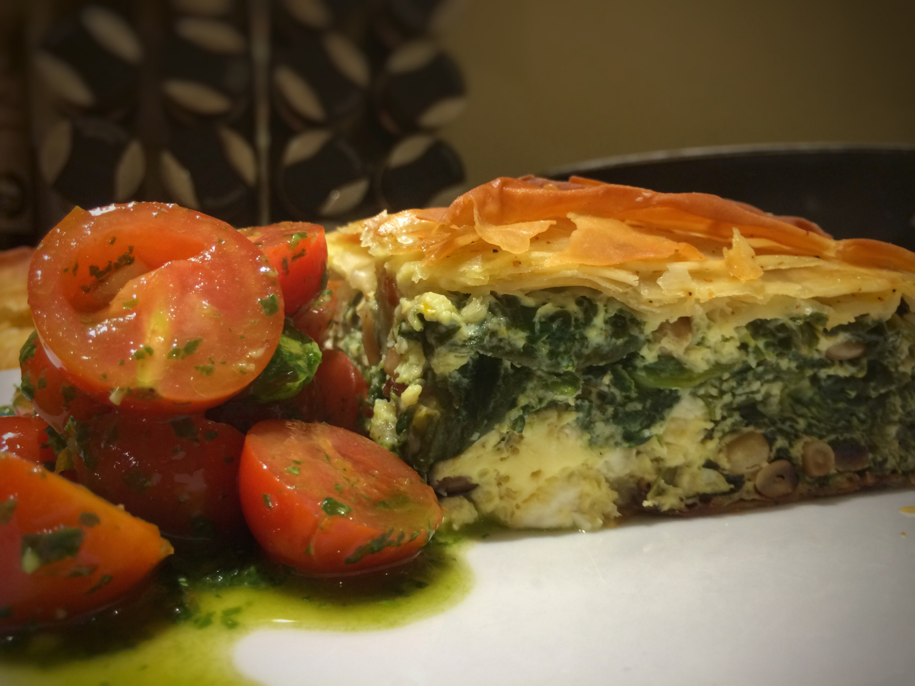 Feta and spinach pie in filo pastry | Season's Eatings - recipes using filo pastry vegetarian