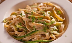 Fettuccini Alfredo With Zucchini Ribbons – Meatless Monday ...