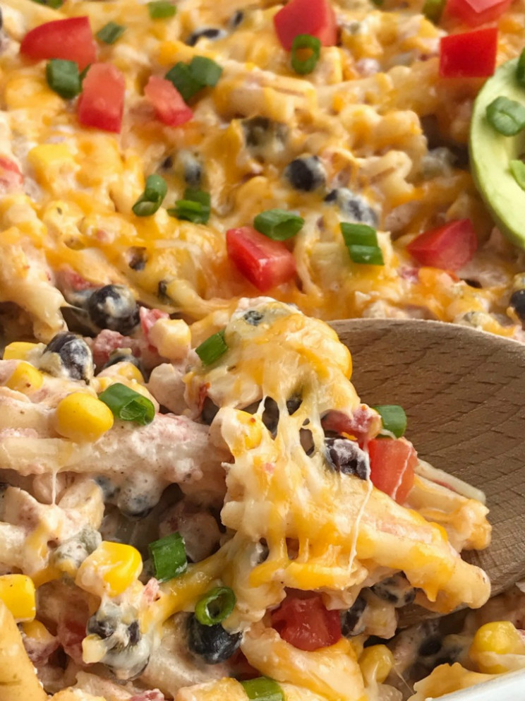 Fiesta Chicken Casserole - Together as Family - recipes for dinner with chicken
