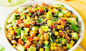 Fiesta Salad – Monkey And Me Kitchen Adventures – Dinner Party Recipes Vegetarian