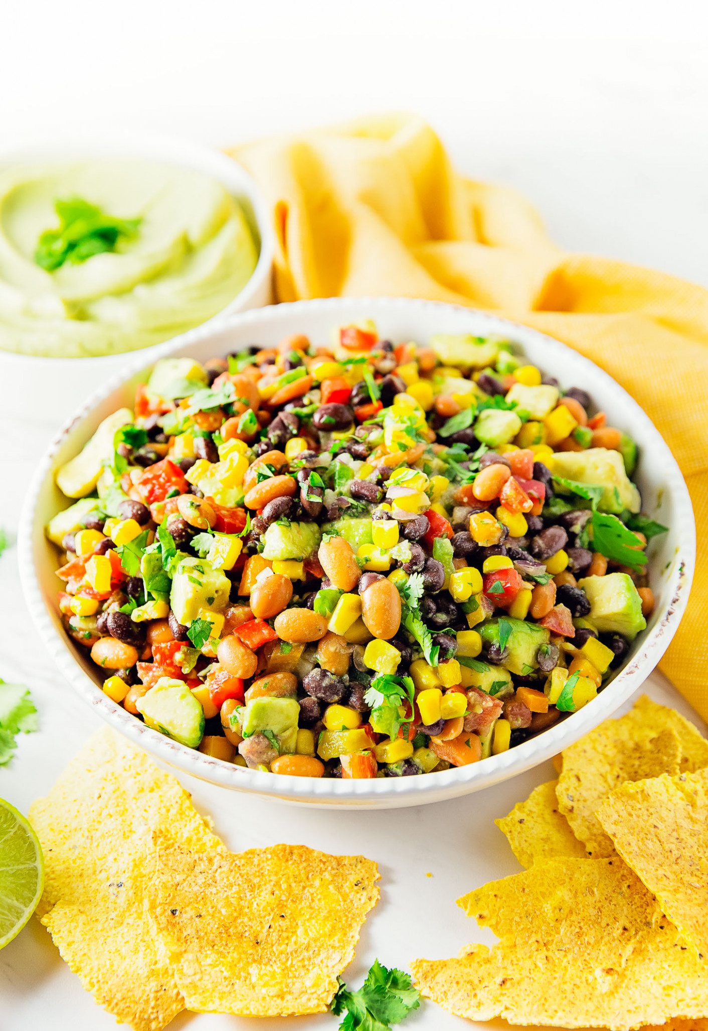 Fiesta Salad - Monkey and Me Kitchen Adventures - dinner party recipes vegetarian