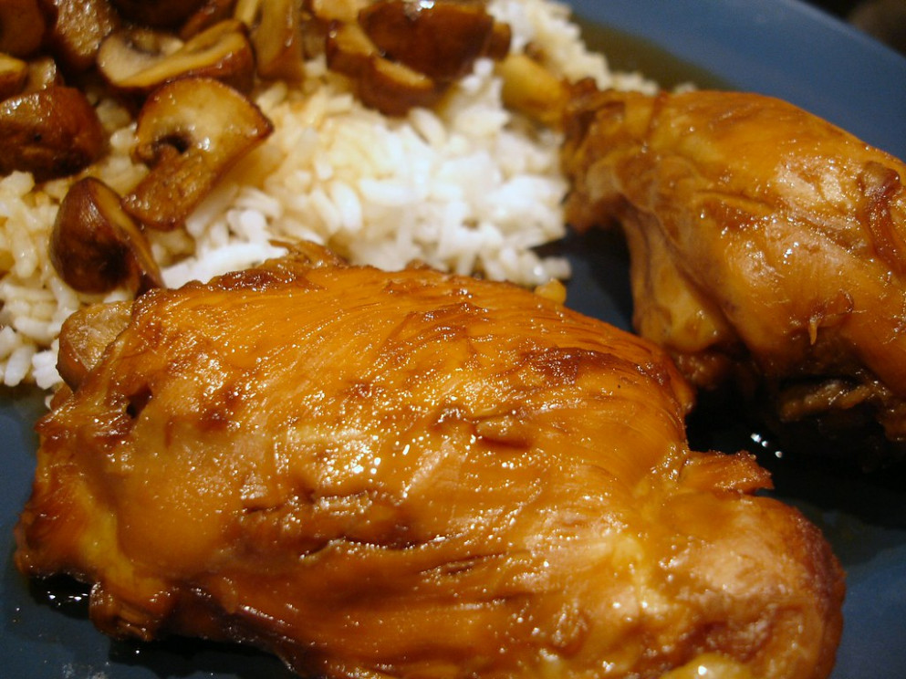 FILIPINO ADOBO-STYLE CHICKEN - chicken recipes legs and thighs