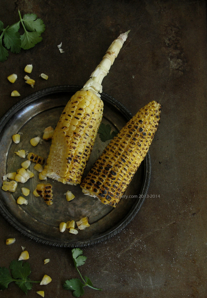 Fire Roasted Corn 1 - indian lunch recipes vegetarian