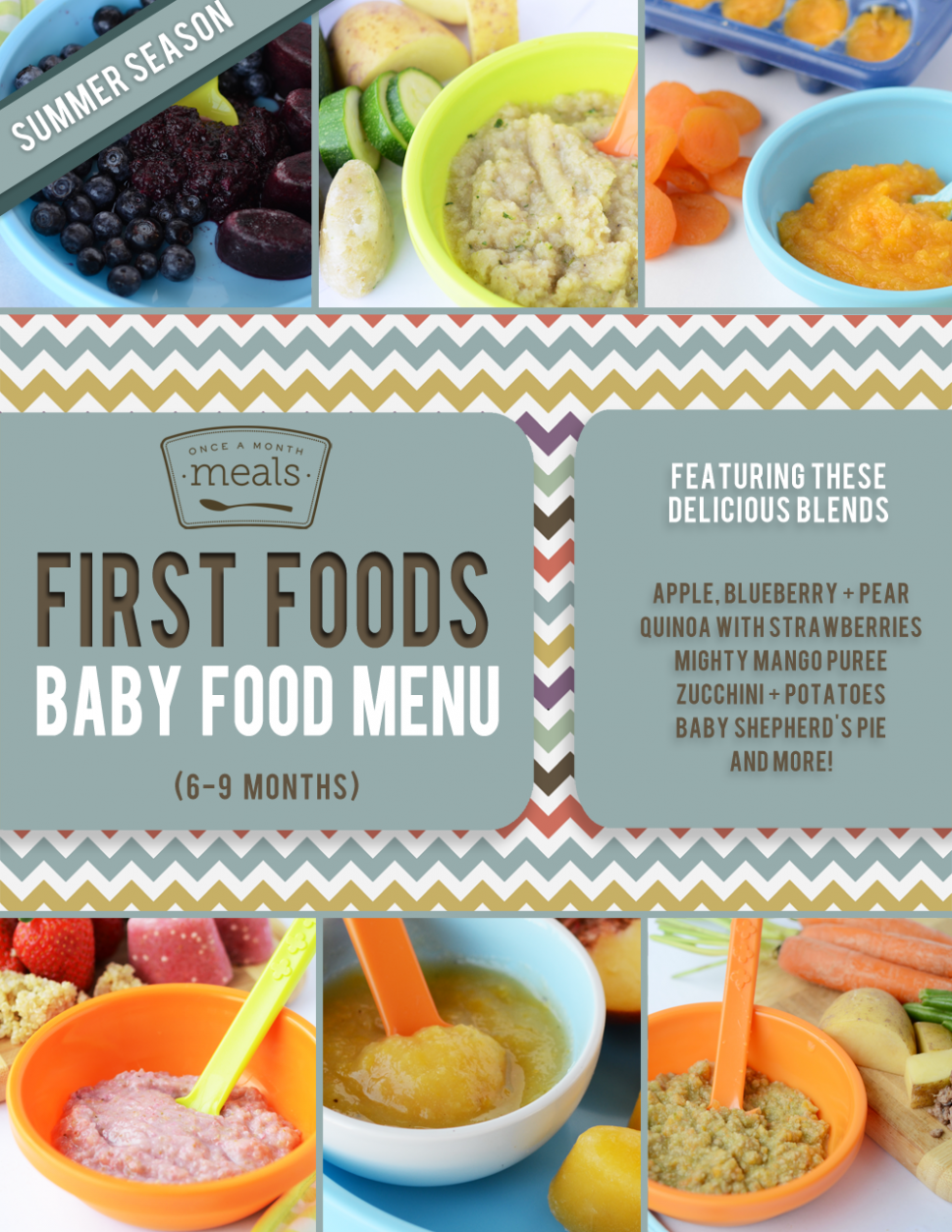 First Foods (6-9+ Month) Summer Baby Food Menu | Once A ..