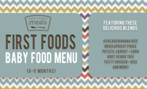 First Foods 6 9+ Months Spring Baby Food Menu | Once A ..