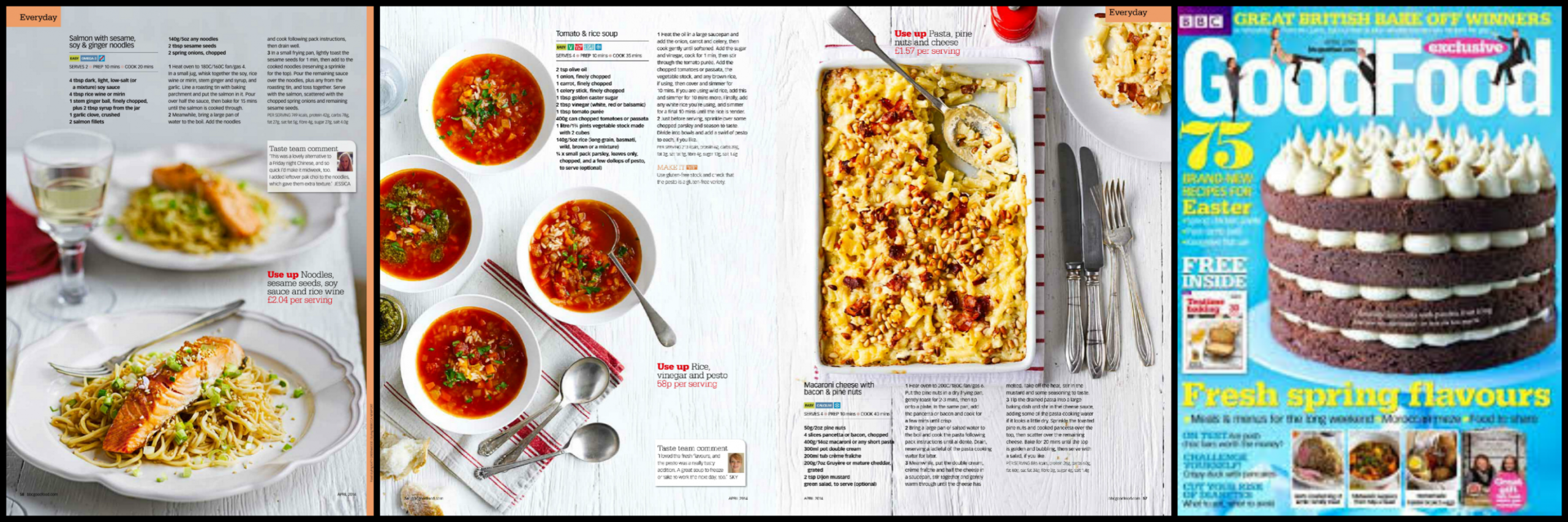 Five Spring Recipes In BBC Good Food Magazine - Ren Behan ..