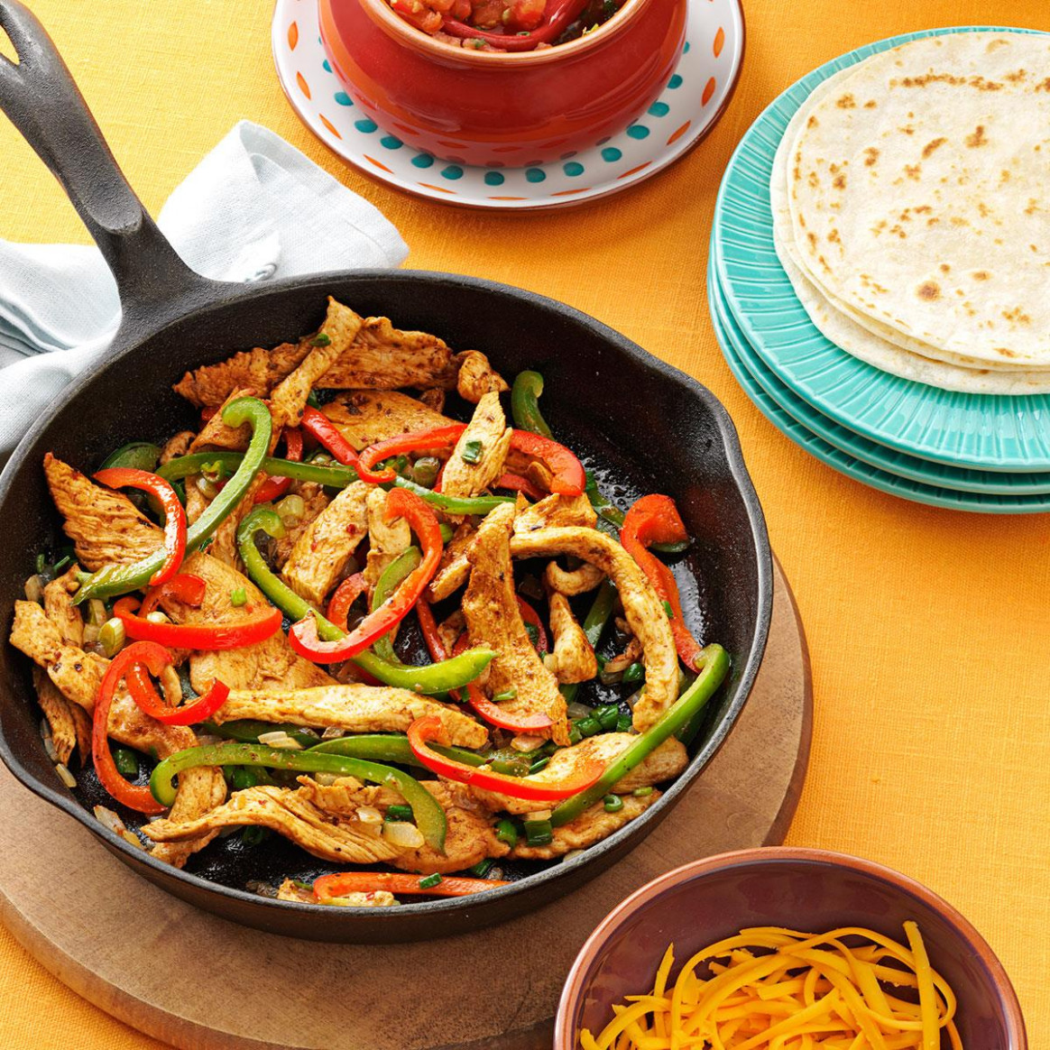 Flavorful Chicken Fajitas Recipe | Taste Of Home - Chicken Recipes At Home