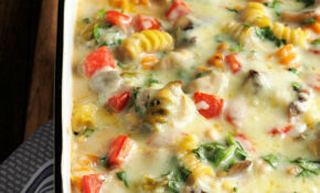Fontina Chicken & Pasta Bake – Chicken Recipes You Can Freeze
