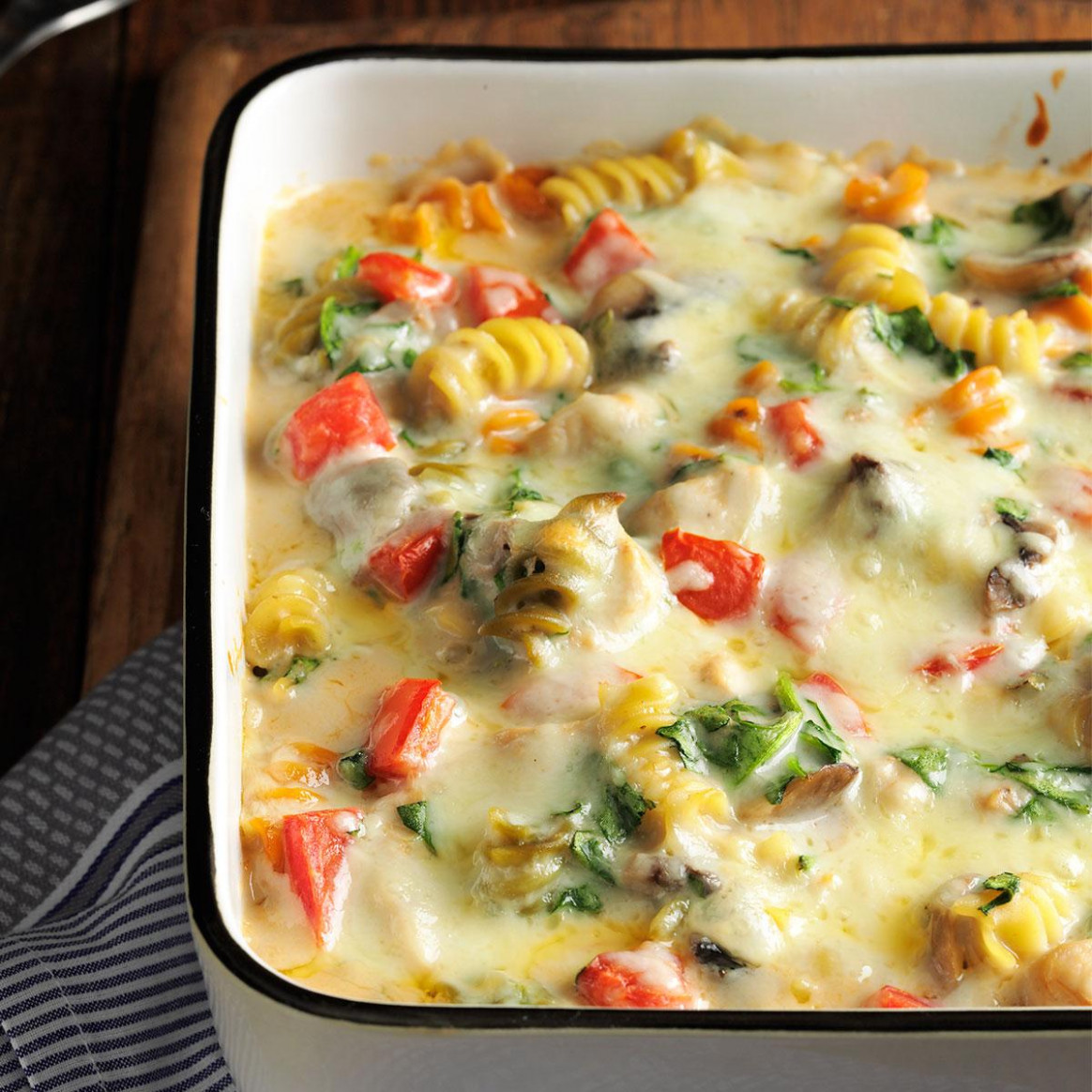 Fontina Chicken & Pasta Bake - chicken recipes you can freeze