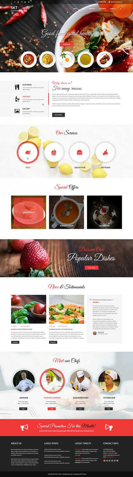 Food And Recipes WordPress Theme For Food Blogging And ..