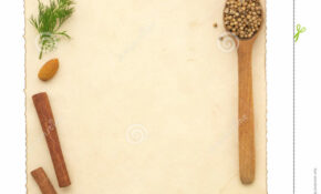 Food Ingredients And Recipe Pape Stock Image - Image of ...