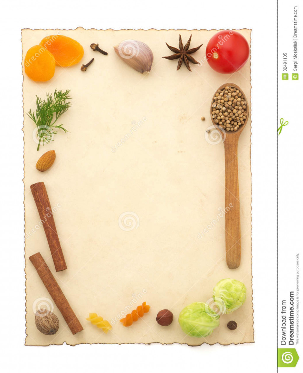 Food Ingredients And Recipe Pape Stock Image - Image of ..