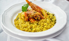 Food, Risotto, Saffron, Shrimps, Prawns