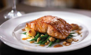 Foodista | Seared Citrus Glazed Salmon with Haricots Verts ...