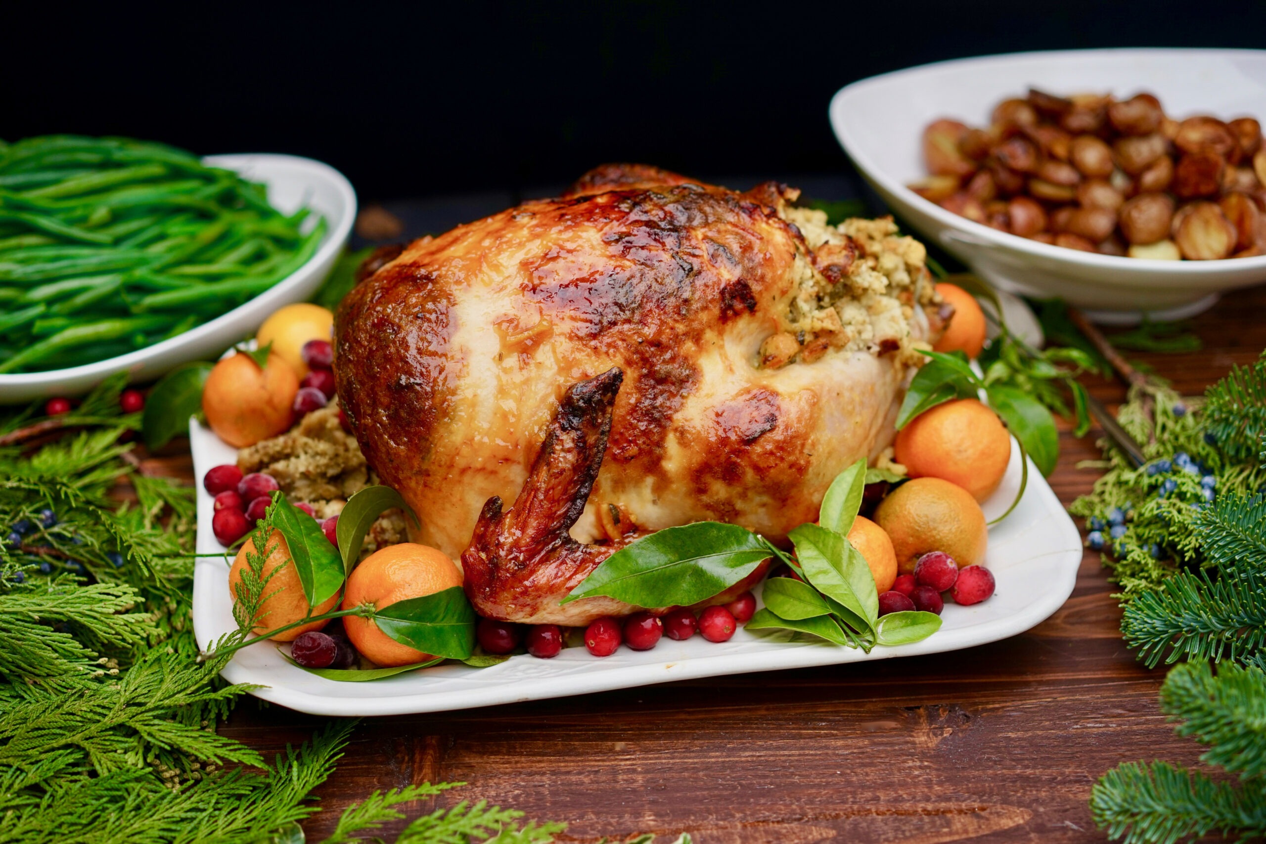 Foolproof Holiday Turkey with Orange Marmalade Glaze - dinner recipes to impress the in laws
