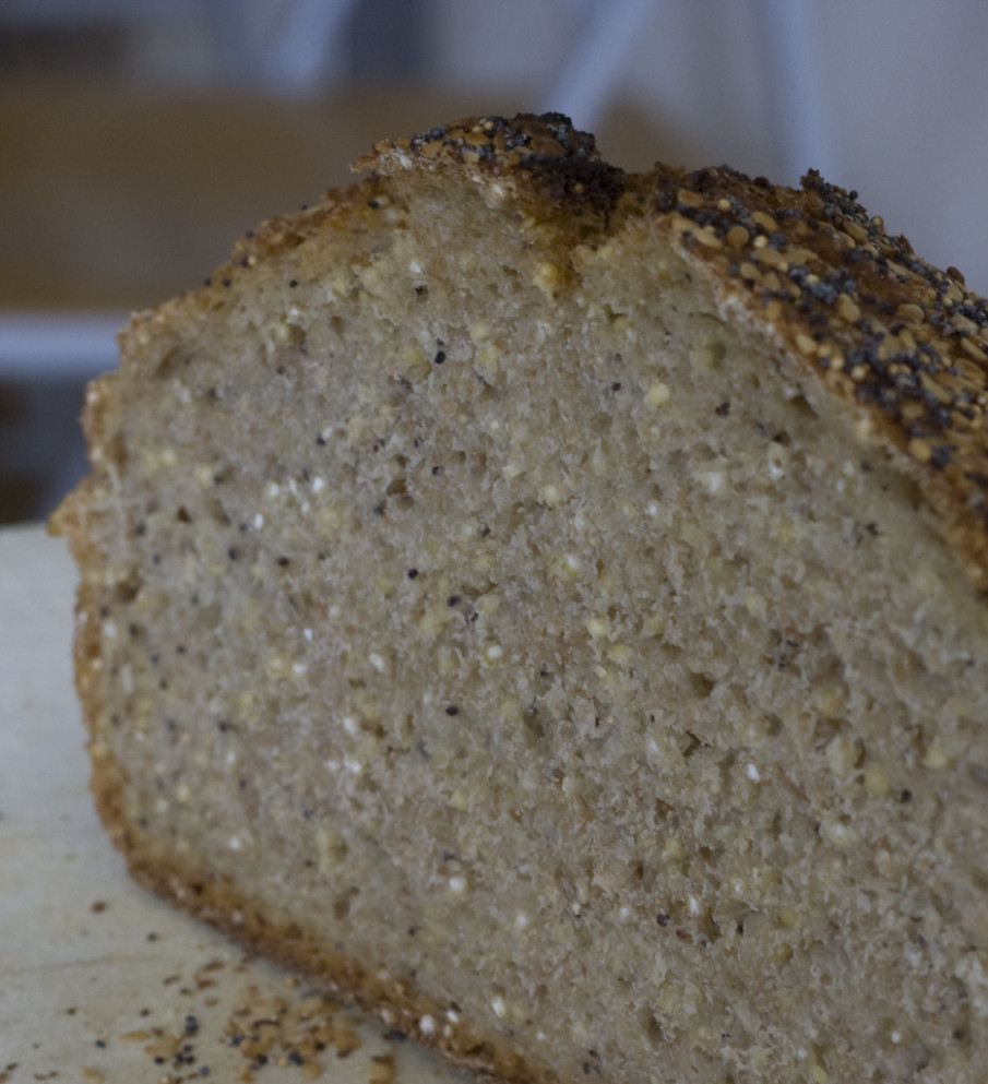 Four-Seed No Knead Loaf - millet recipes vegetarian