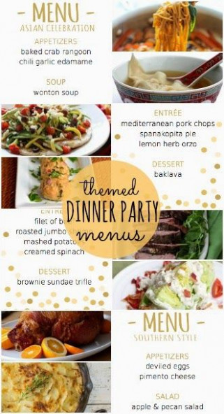 Four Themed Dinner Party Menus With Recipes And Printable ..