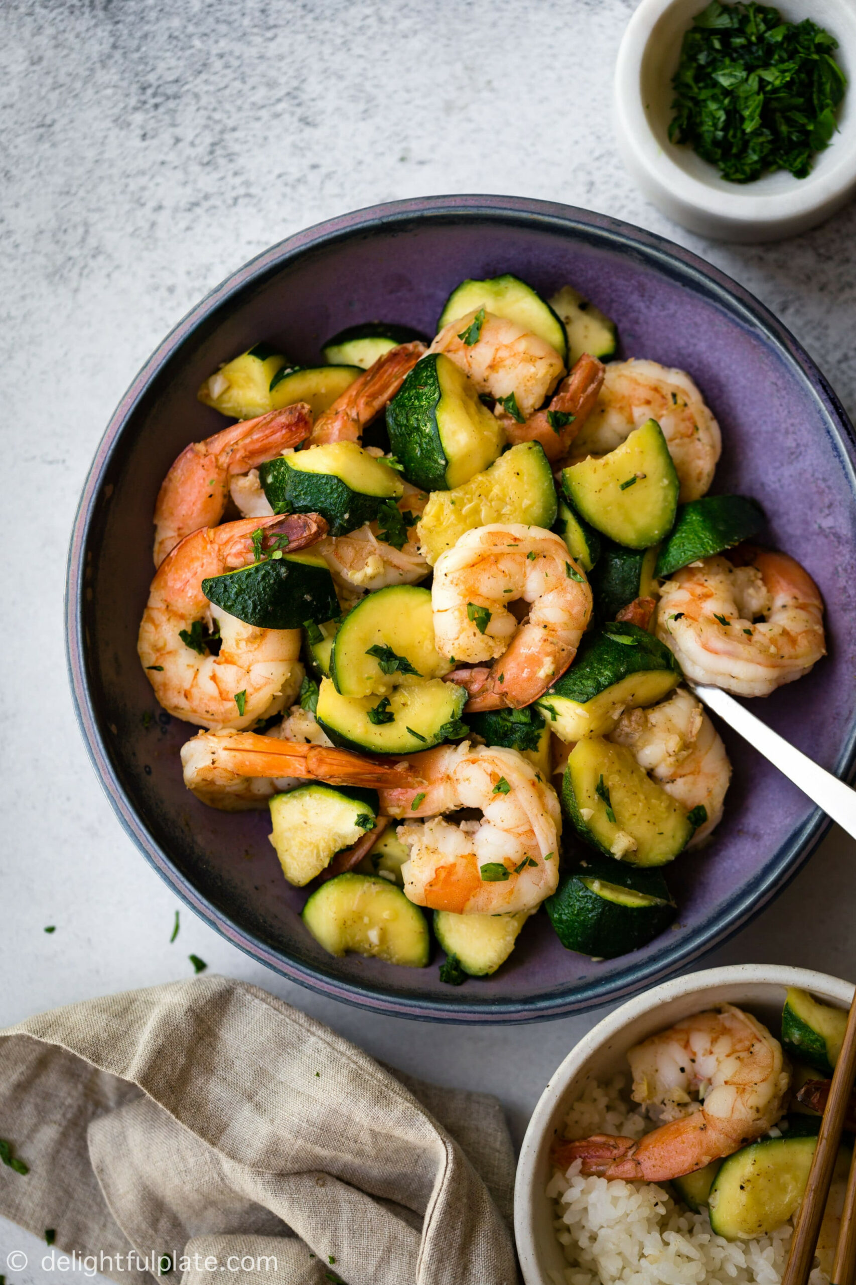 Freaking Fast Sautéed Shrimp with Zucchini - Delightful Plate - dinner recipes with zucchini and squash