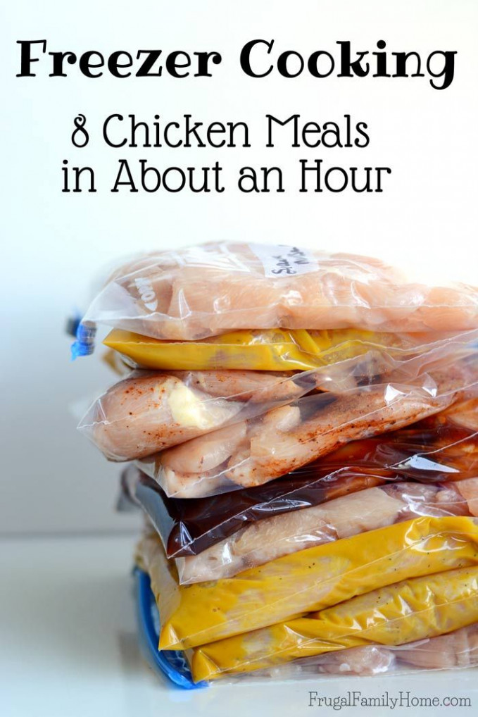 Freezer Cooking Chicken, 8 Easy Chicken Freezer Meals ..