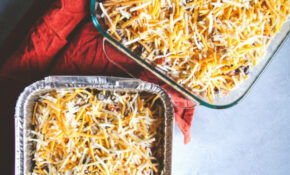 Freezer Meal – Chicken Enchilada Casserole – Sweetphi – Food Recipes You Can Freeze